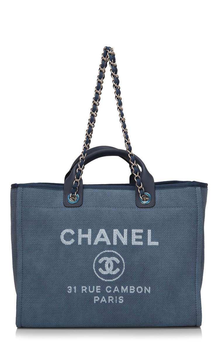 574d16b61645 Lyst - Madison Avenue Couture Chanel Large Deauville Canvas Tote Bag ...