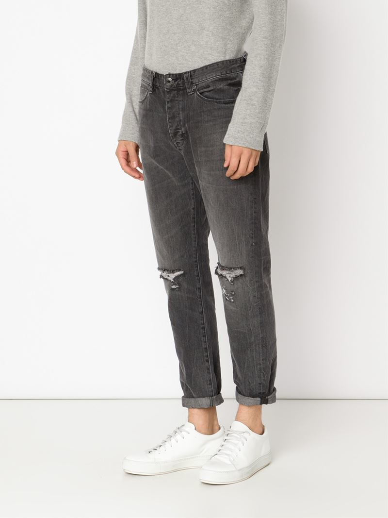 Neuw Distressed Jeans in Gray | Lyst