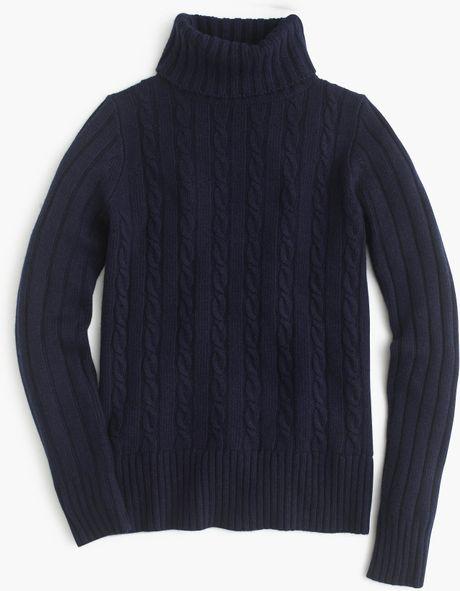 Women'S Navy Blue Turtleneck Sweater 48