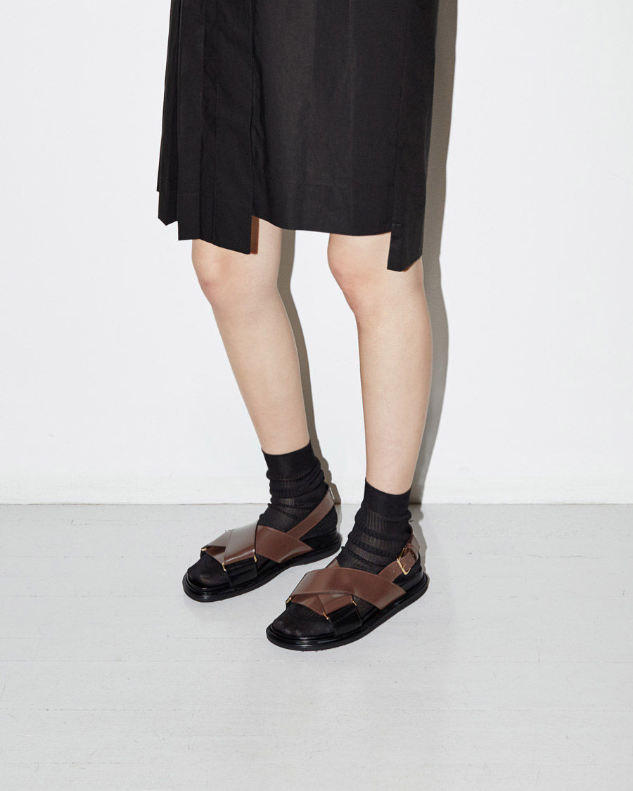 Fussbett sandals - Brown Marni BXycIEtiJ0