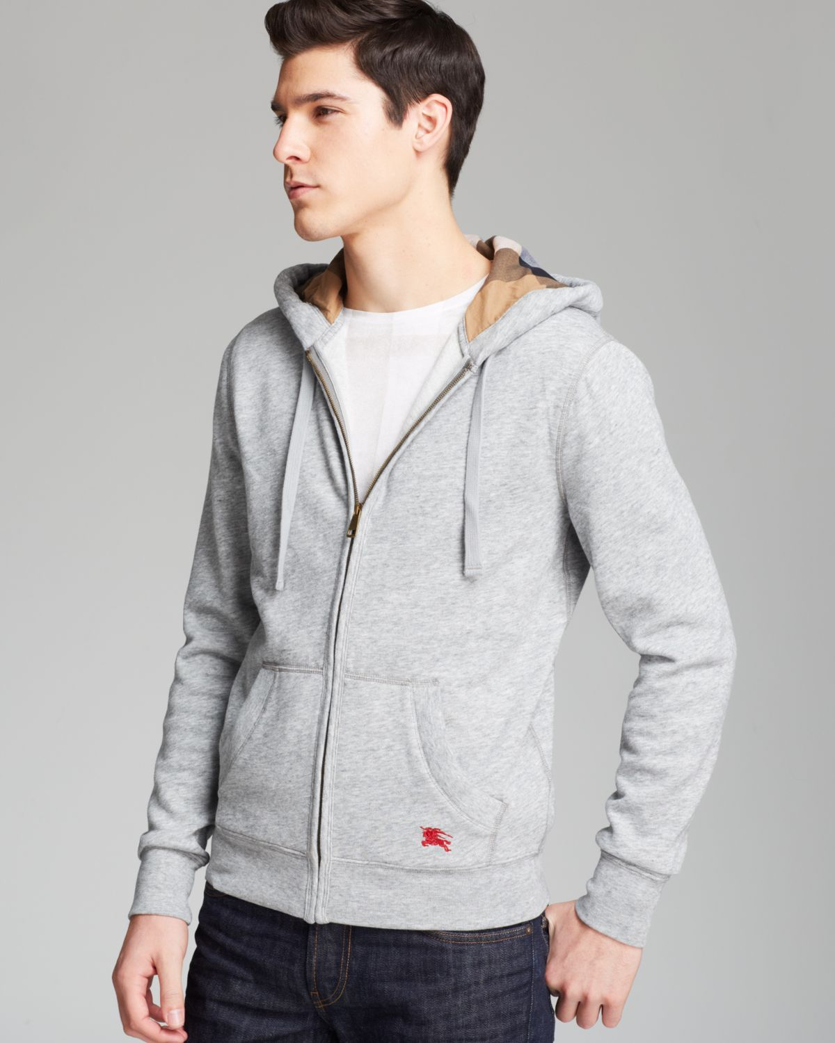 Burberry Brit Chester Hoodie in Gray for Men