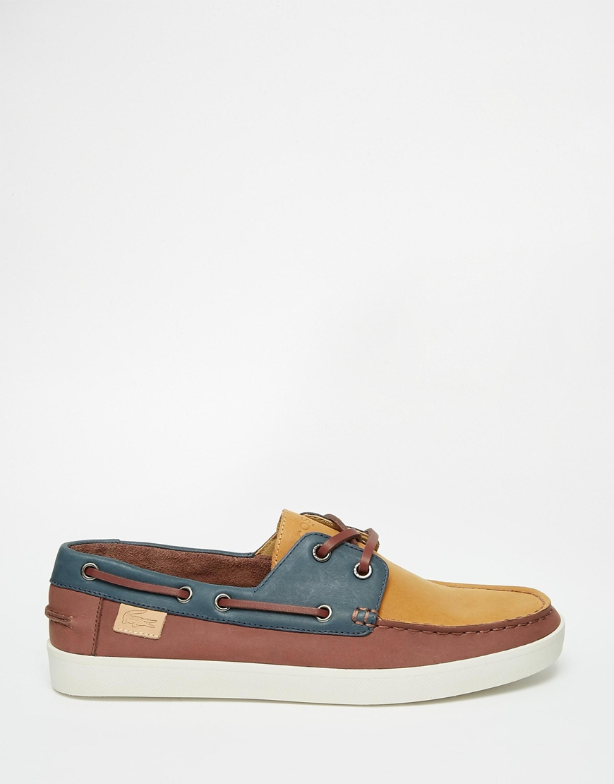 66c1c60777e4 ... lacoste keellson suede boat shoes brown ...