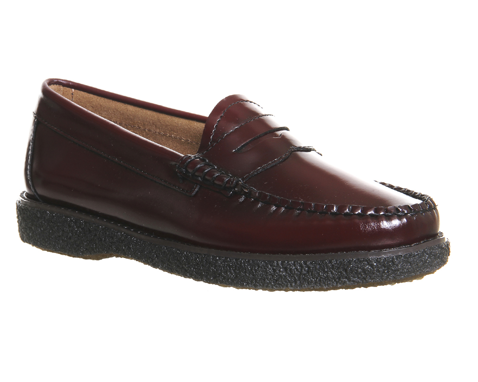 2f769e142d3 G.H.BASS Crepe Sole Penny Loafers in Purple - Lyst