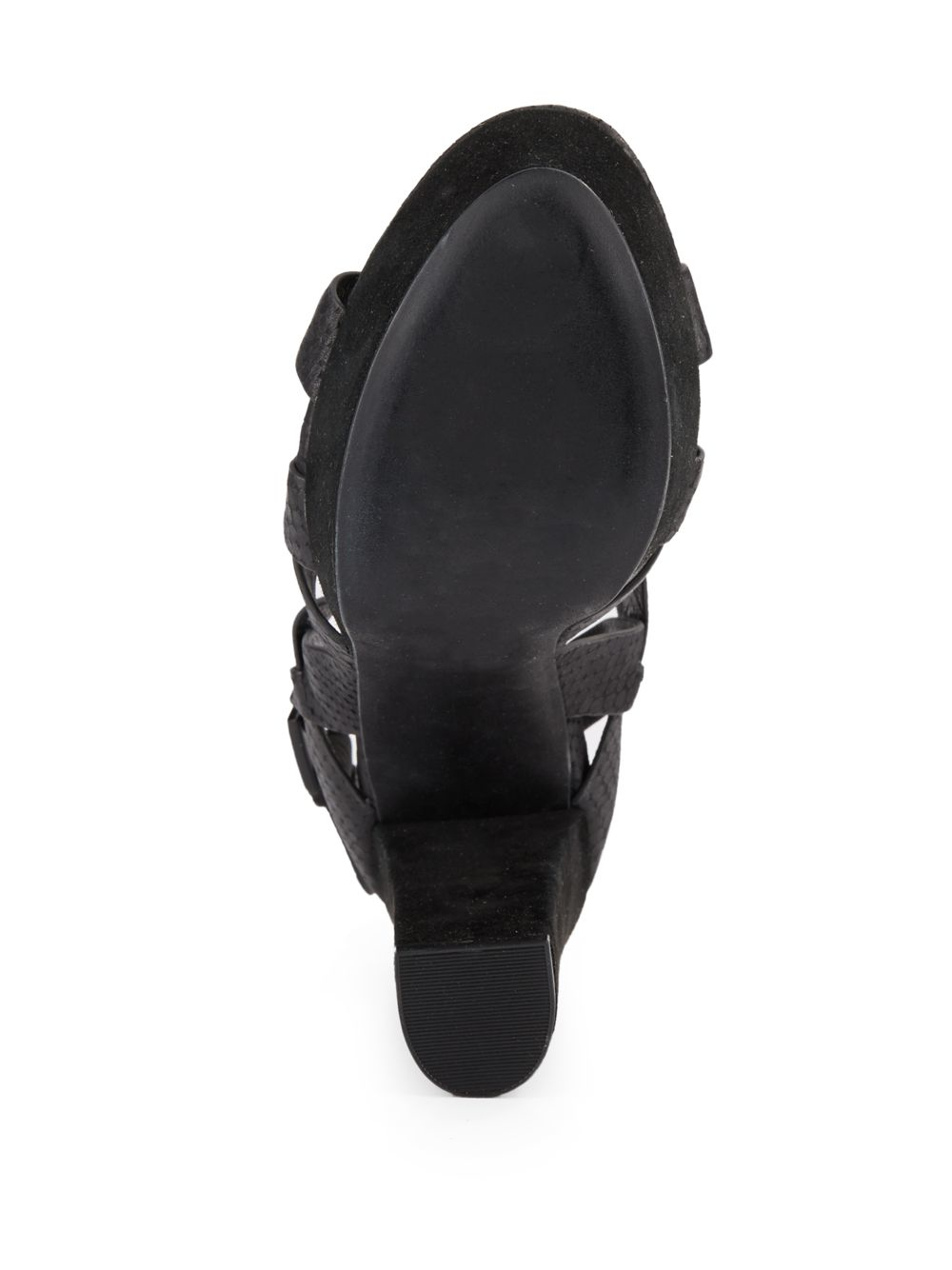 1a4f812e52d Lyst - Joie Inez Snakeskin-embossed Leather Platform Sandals in Black