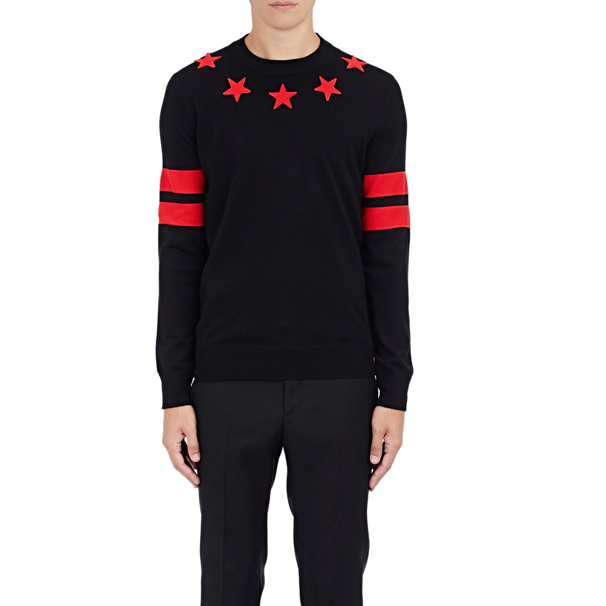 Lyst - Givenchy Stars   Stripes Sweater in Black for Men 96faf5ead