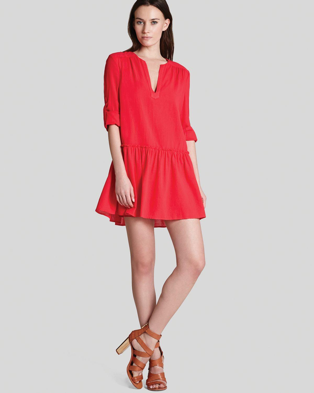 Lyst - Bcbgmaxazria Bcbg Max Azria Dress Lauryn in Red