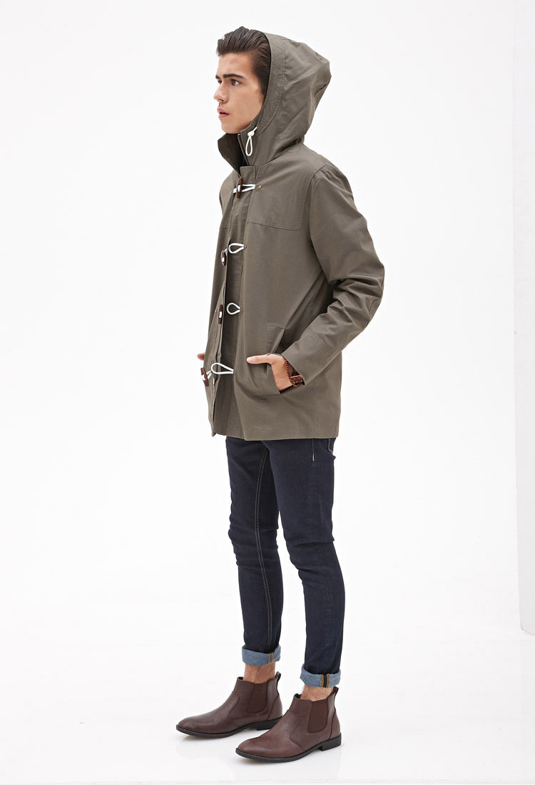 Wonderful Lyst - Forever 21 Toggle Button Utility Jacket in Natural for Men DS37