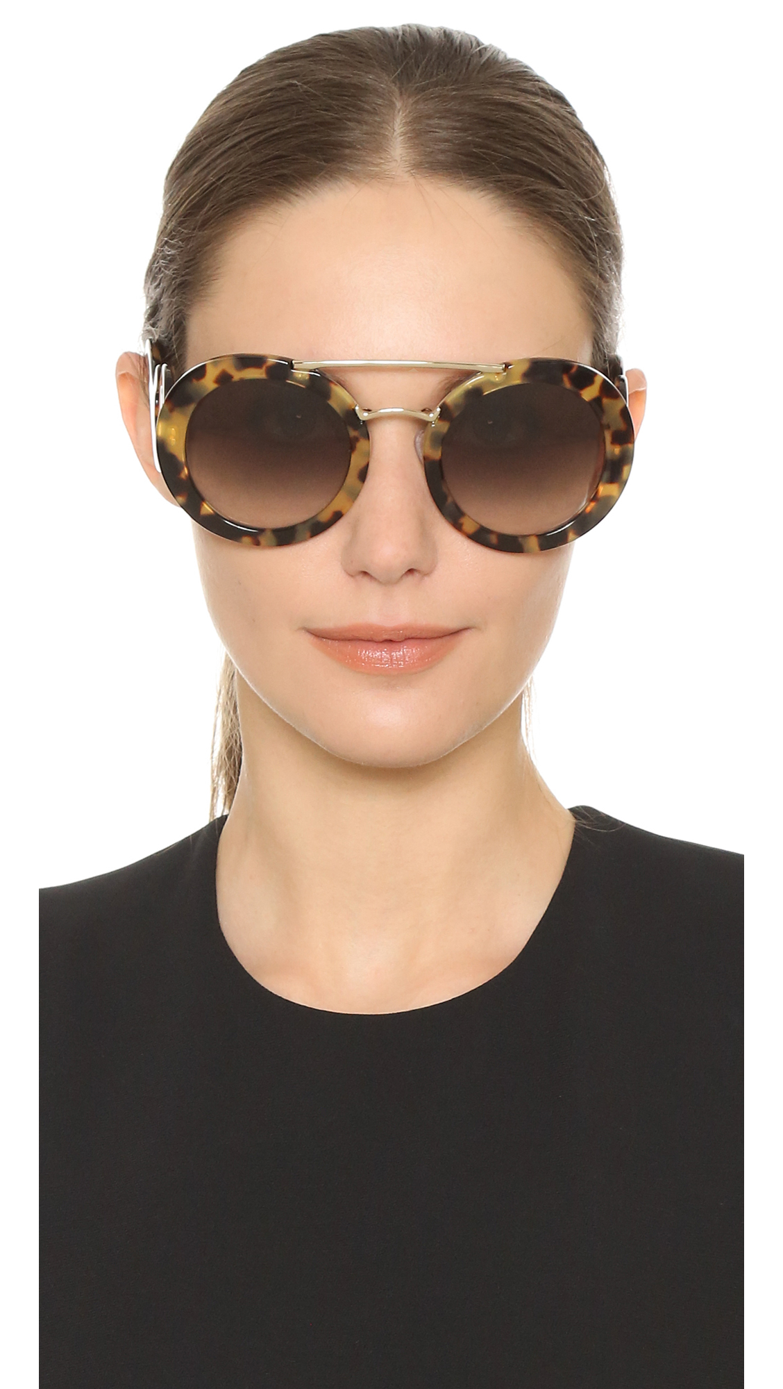 156dc384 order prada cinema sunglasses round c8b0f 49846