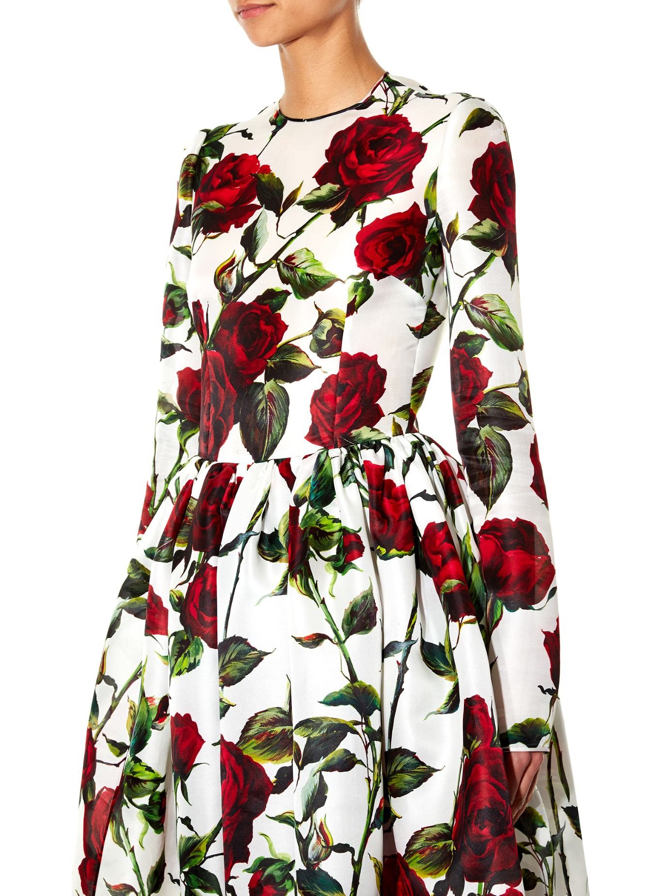 cold shoulder rose print dress - Multicolour Dolce & Gabbana The Cheapest Online Buy Cheap Visit New Outlet With Paypal Order Online nHpuUUoRZH