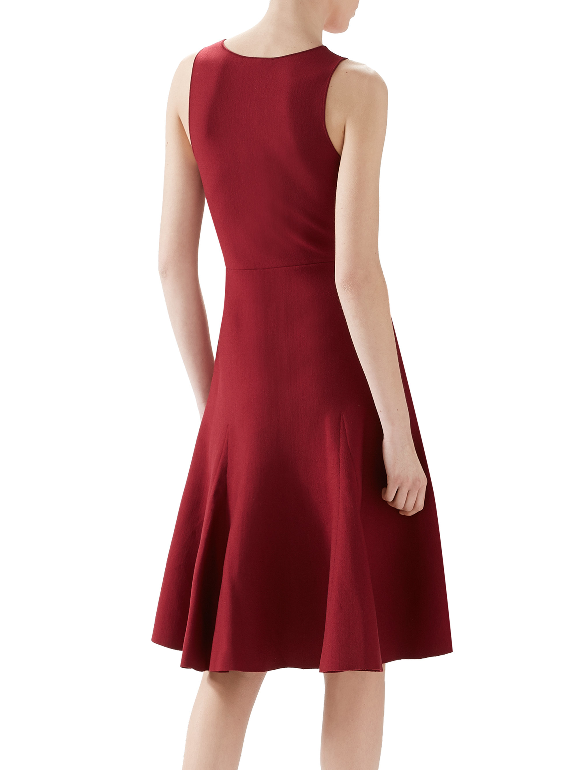 Lyst - Gucci Knit Godet Dress in Purple