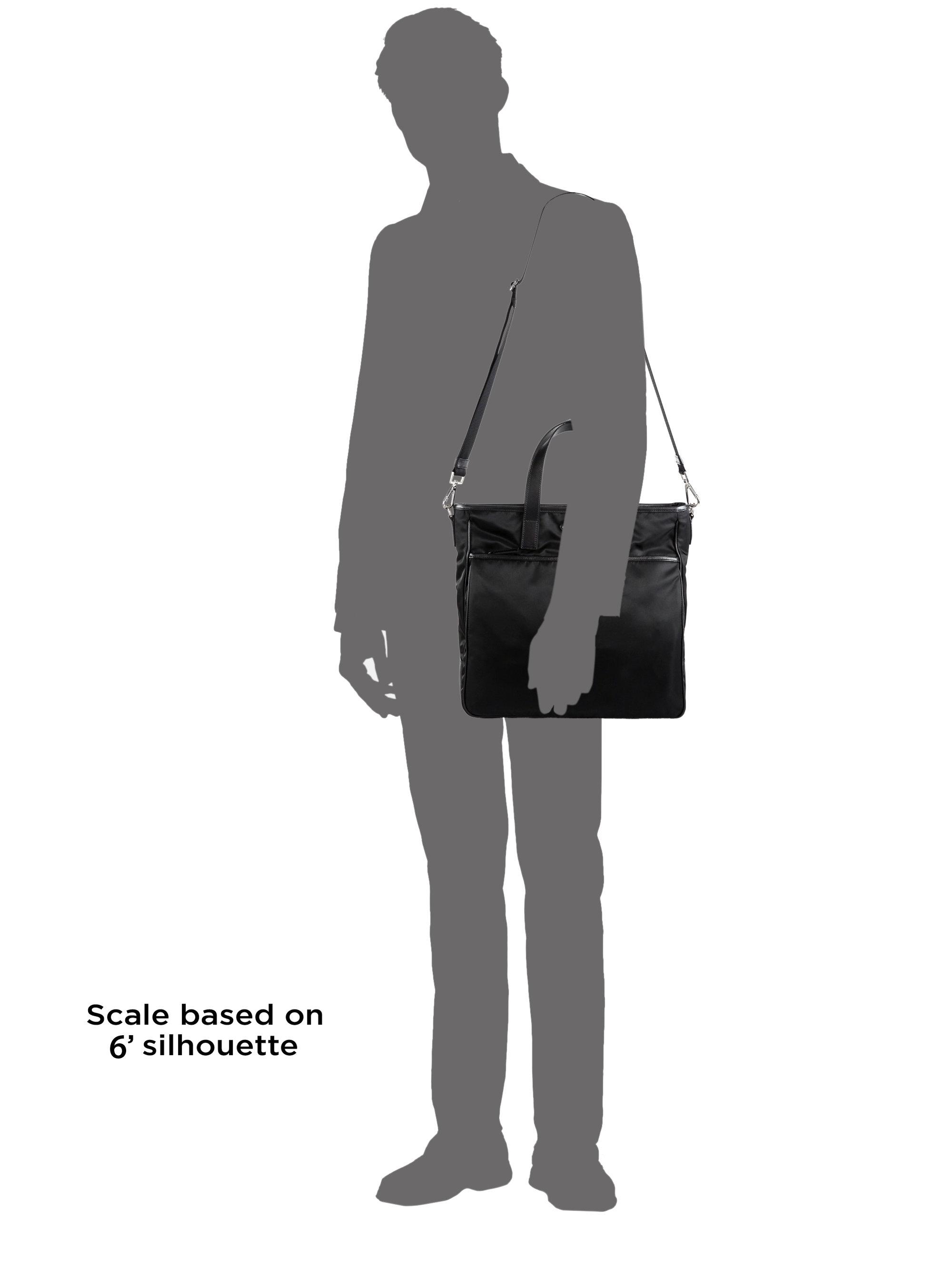 Prada Nylon \u0026amp; Saffiano Computer Tote in Black for Men | Lyst