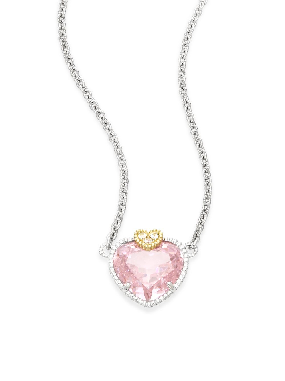 watch sterling braided judith with ripka qvc on heart verona necklace charm pendant