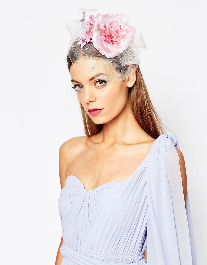 Lyst Asos Wedding Flower Sequin Fascinator In Pink