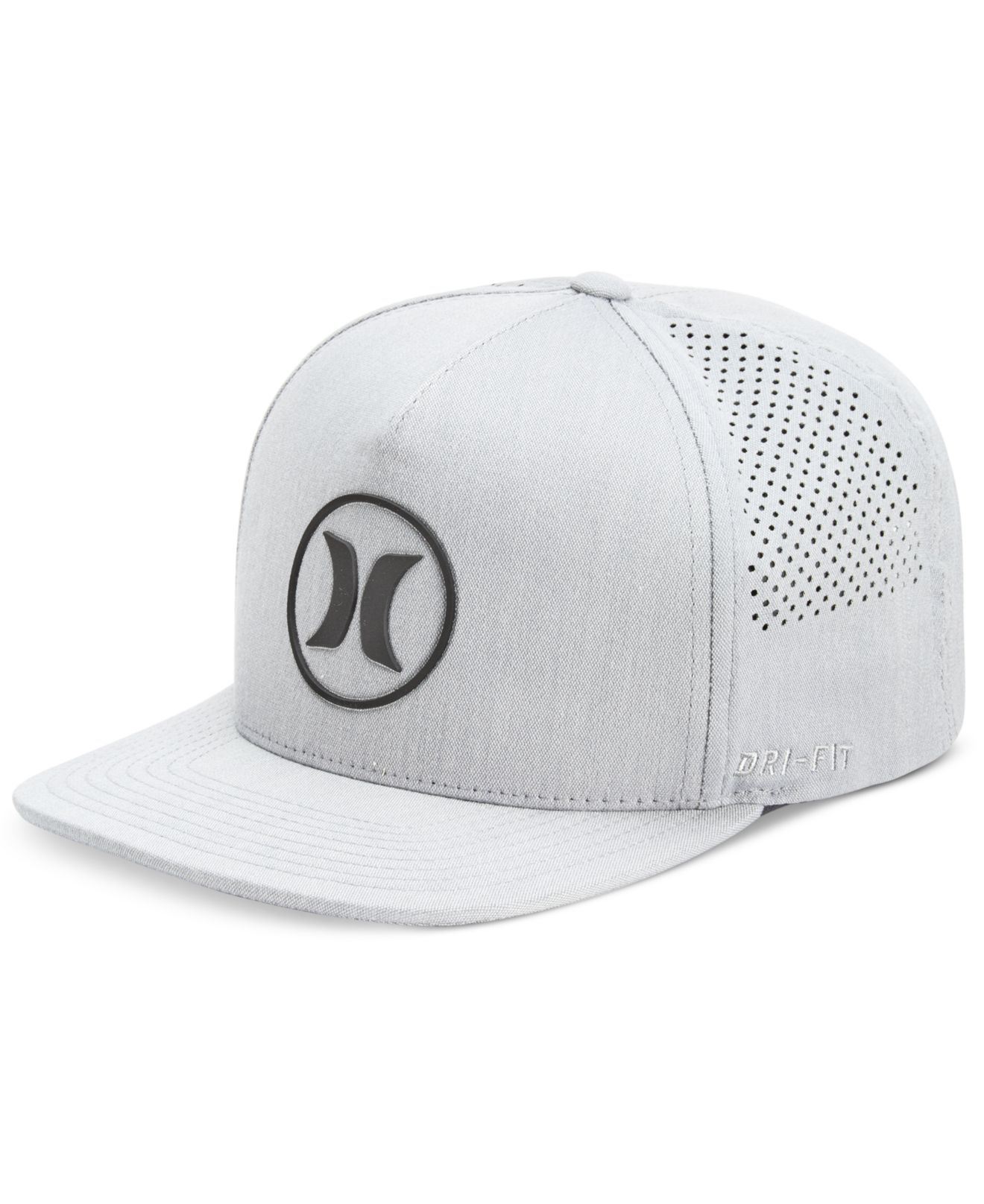 Lyst - Hurley Men s Dri-fit Icon 2.0 Perforated Logo Hat in Gray for Men a1ce4ff208f