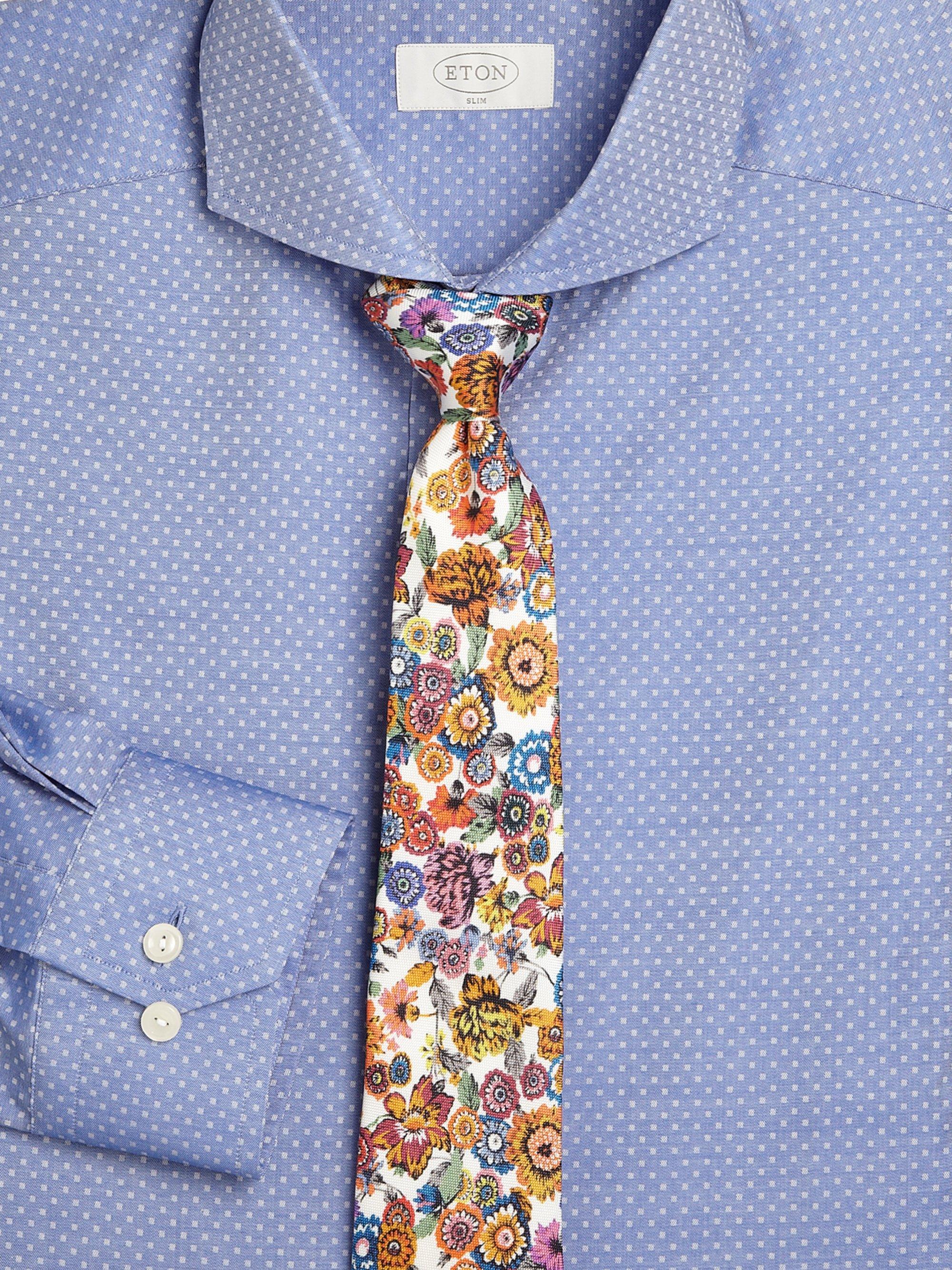 37dd5fff8b43 Eton of Sweden Flower Print Silk Tie for Men - Lyst