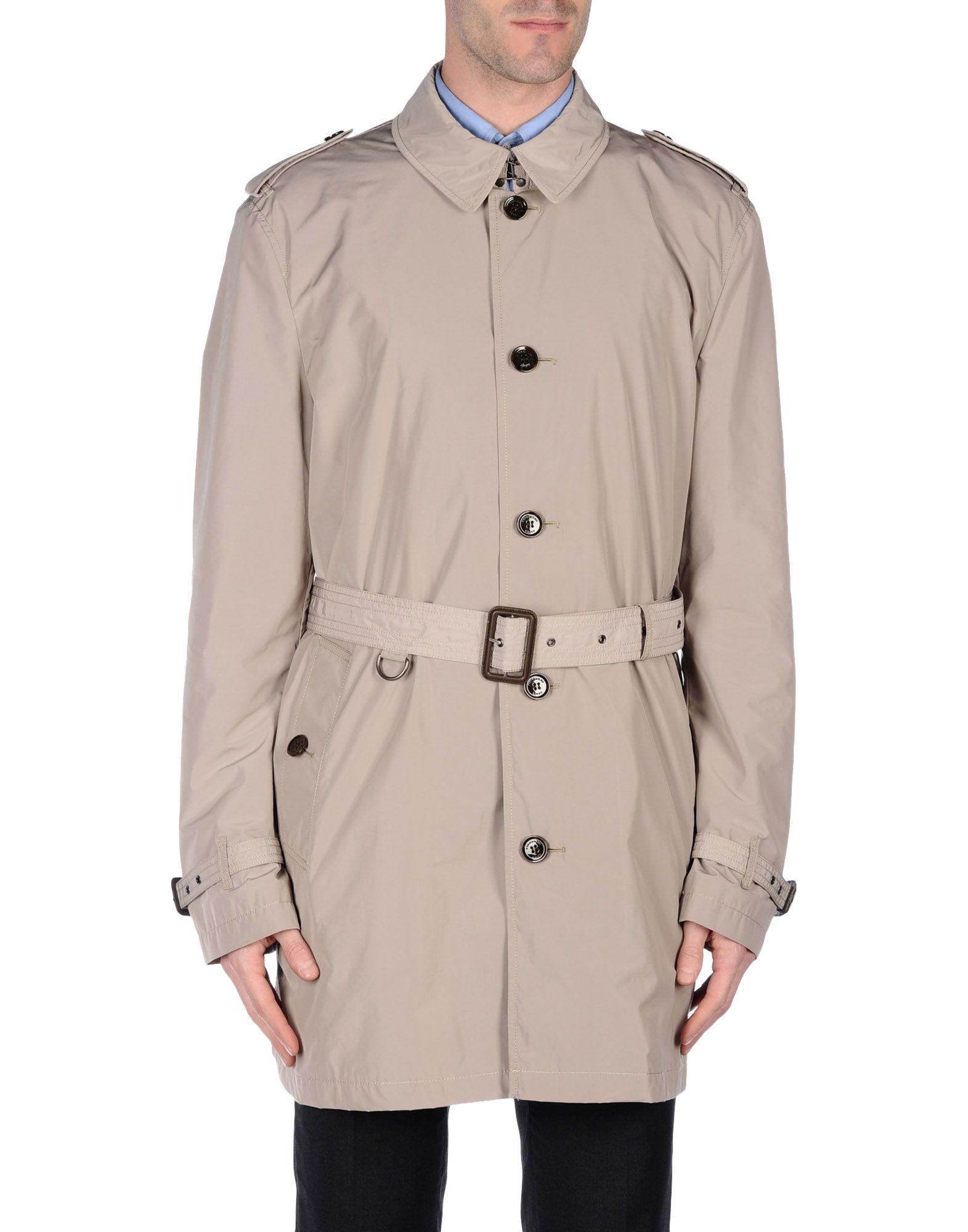 burberry brit full length jacket in gray for men light grey lyst. Black Bedroom Furniture Sets. Home Design Ideas
