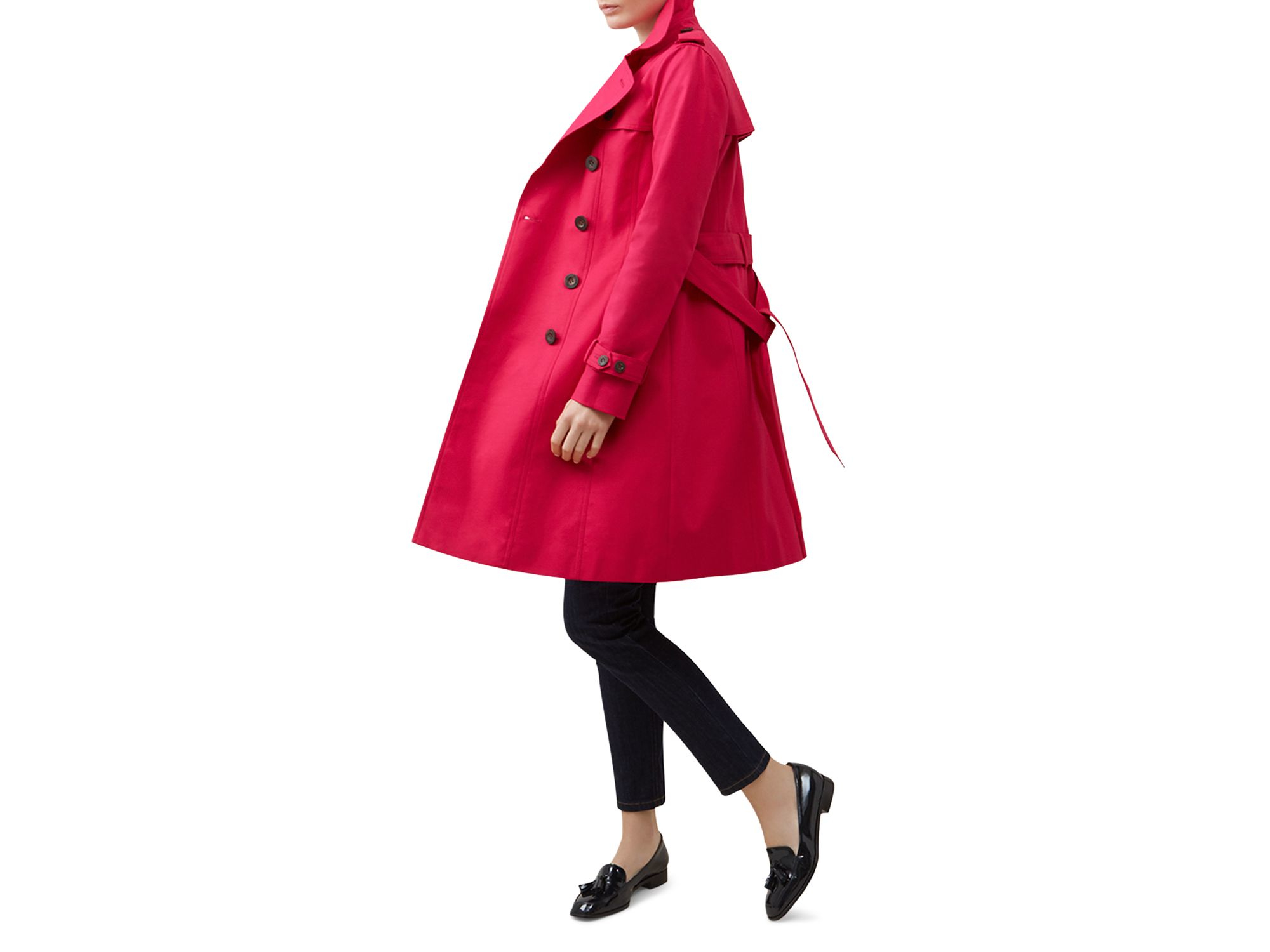 Hobbs Saskia Trench Coat - 100% Bloomingdale's Exclusive in Red | Lyst