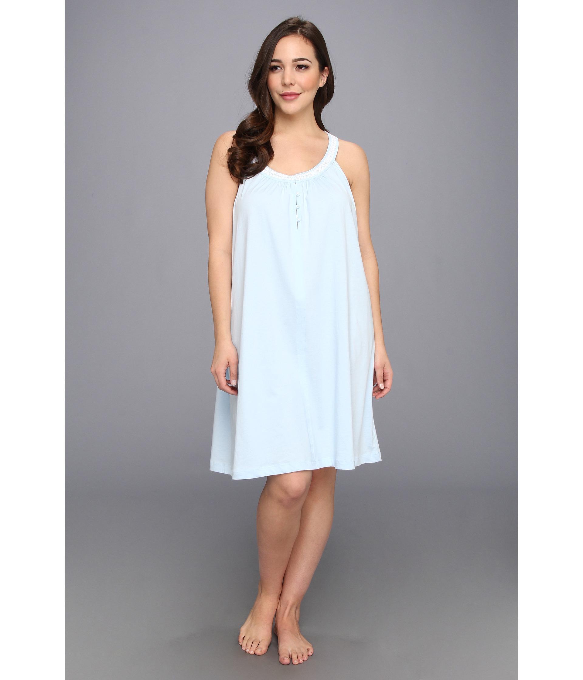 bb4feea17a Lyst - Carole Hochman Plus Size Solid Short Nightgown in Blue
