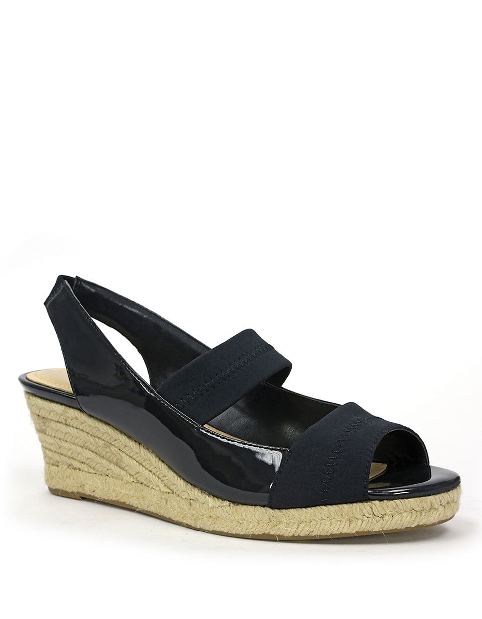 Lyst Ellen Tracy Kendall Wedge Sandals In Blue
