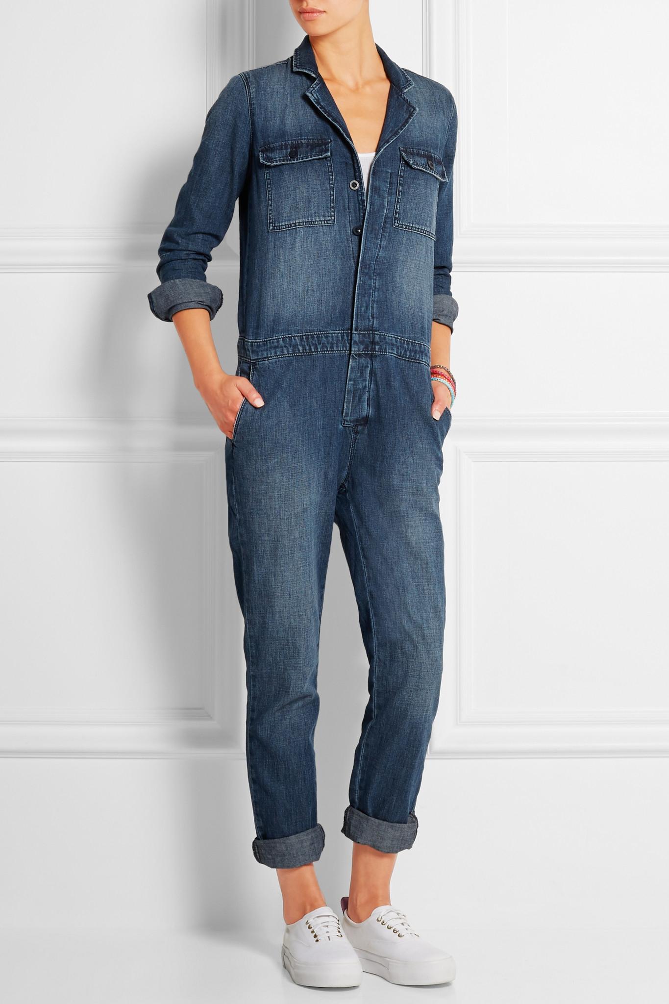 1d9a853ba0c Madewell Denim Jumpsuit in Blue - Lyst
