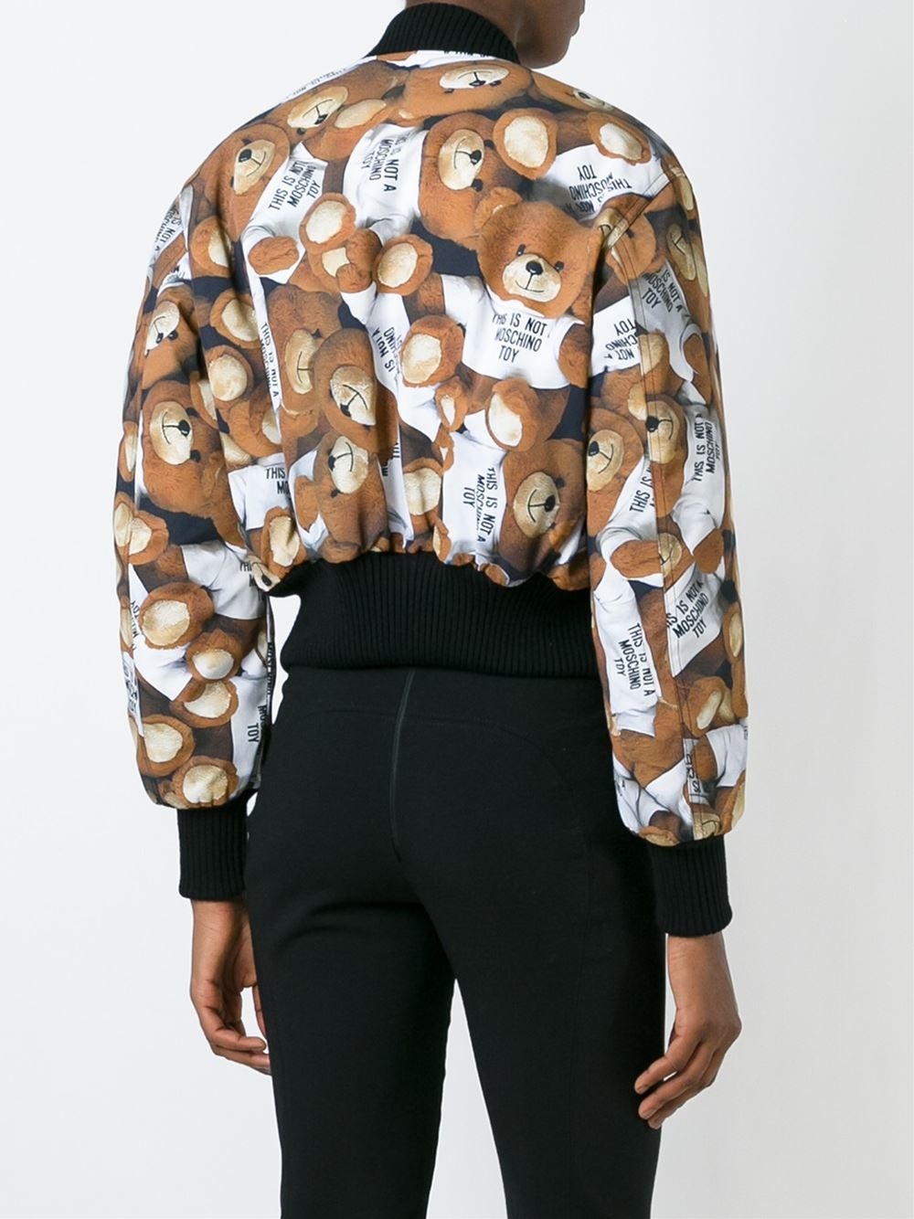 Moschino Teddy logo print jacket
