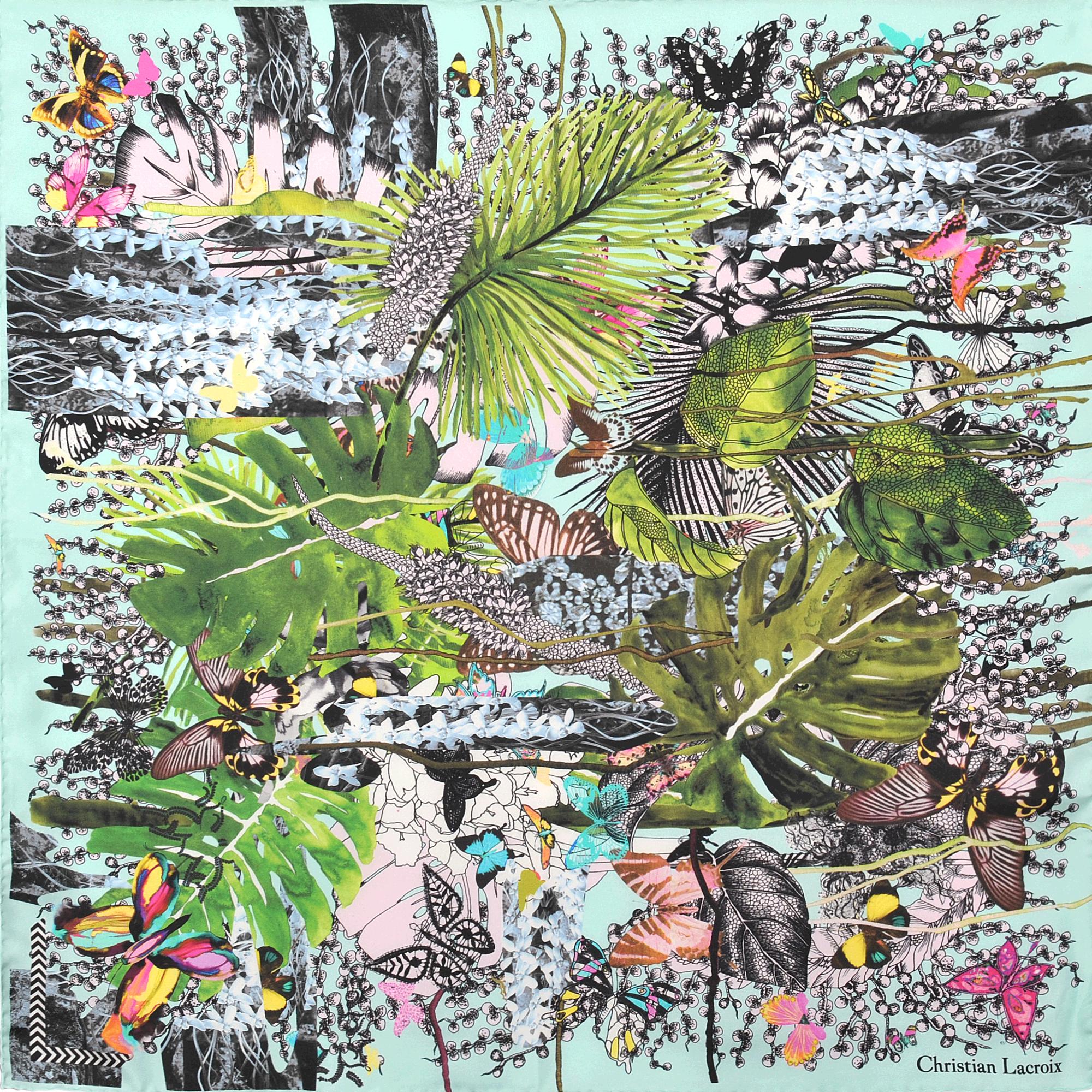 lyst christian lacroix jardin exo 39 chic silk scarf 70x70