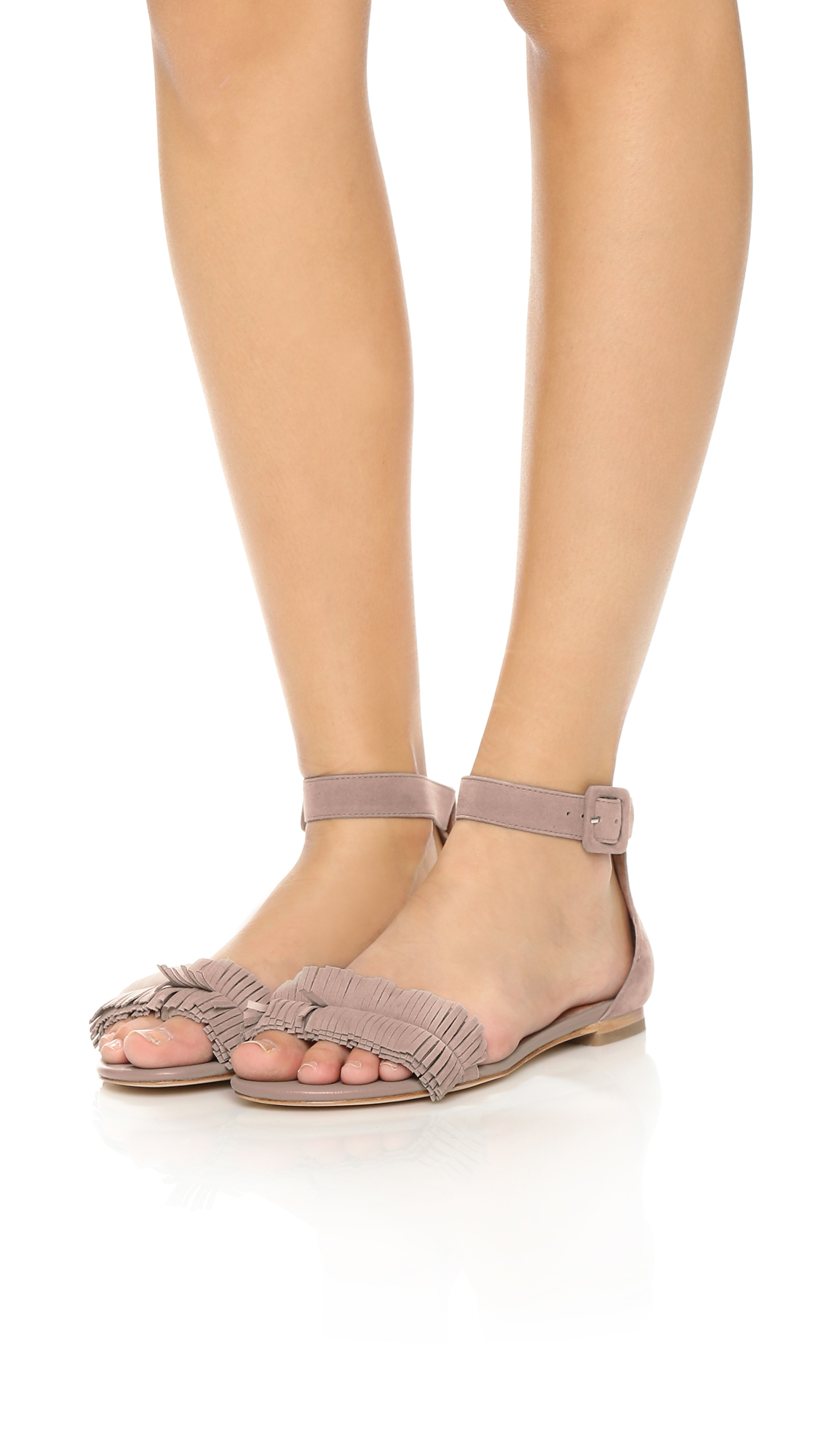 Lyst Joie Ferris Suede Flat Sandals Sandstone In Natural