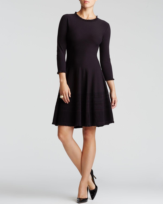 Kate Spade Pointelle Sweater Dress In Black Lyst