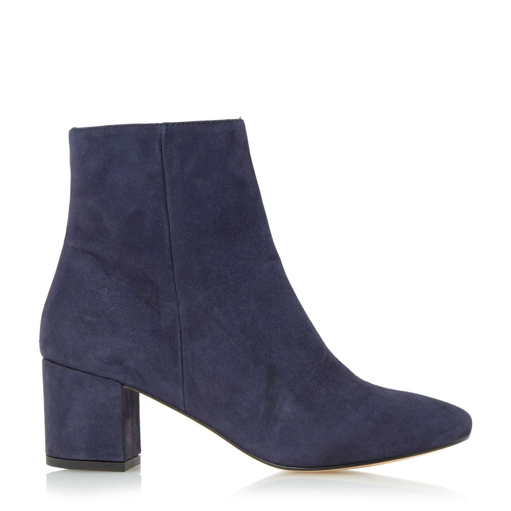 dune pebble block heel ankle boots in blue lyst