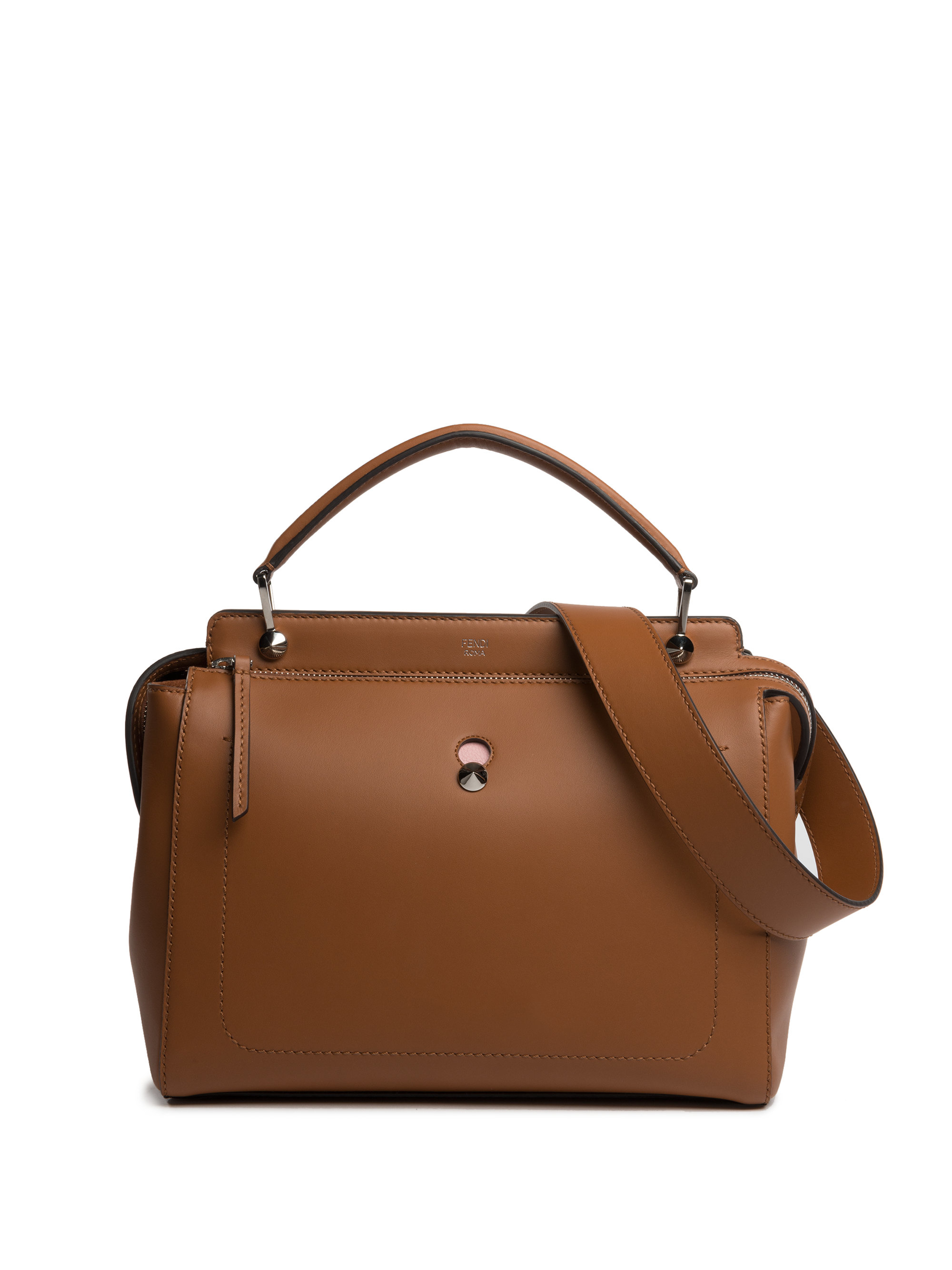 fendi-bark-dotcom-leather-satchel-brown-