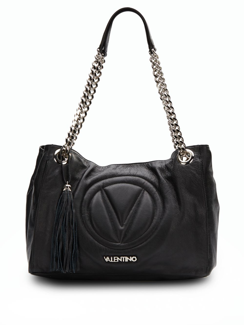valentino by mario valentino verra leather shoulder bag in. Black Bedroom Furniture Sets. Home Design Ideas