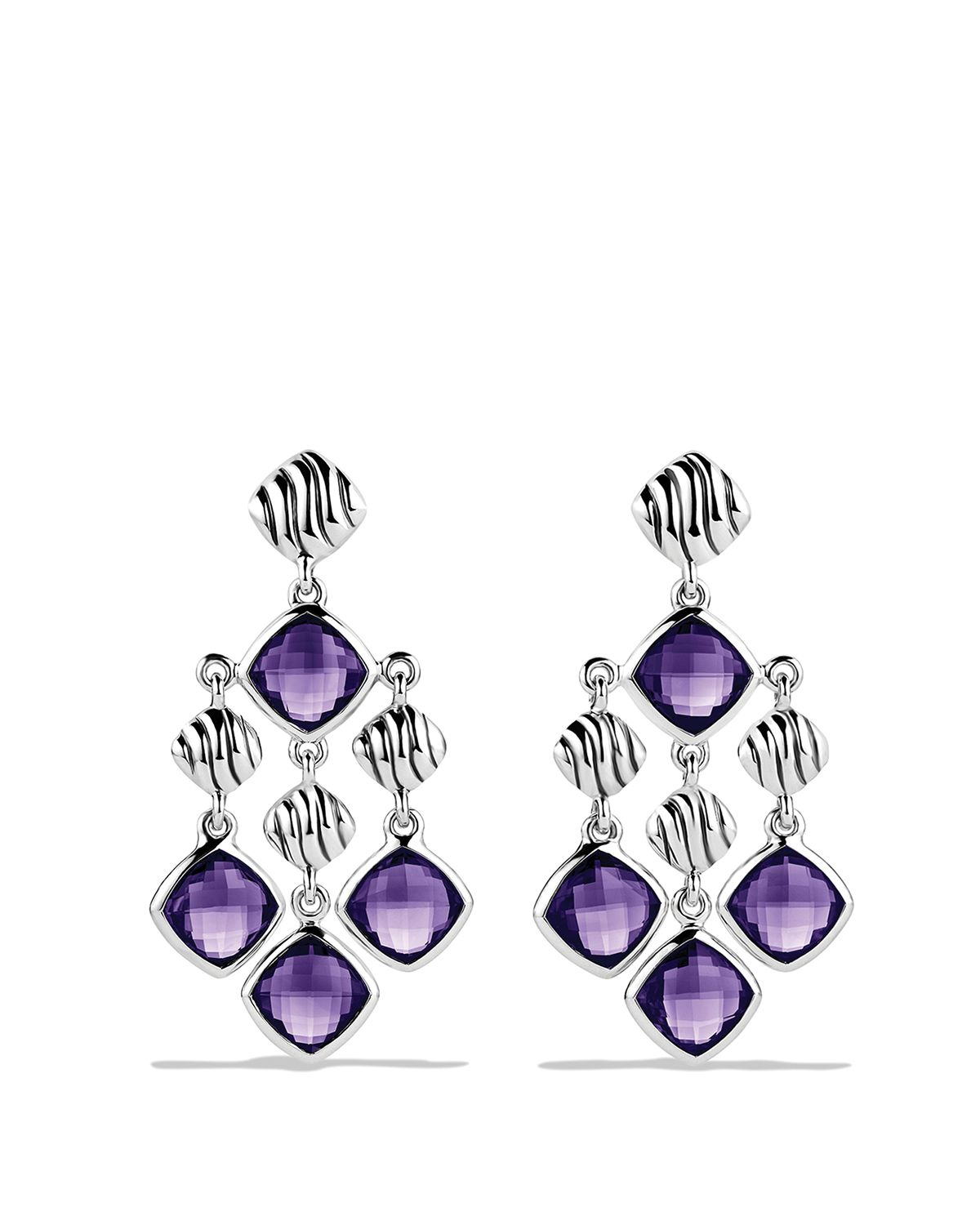 Lyst david yurman sculpted cable chandelier earrings with amethyst gallery mozeypictures Gallery