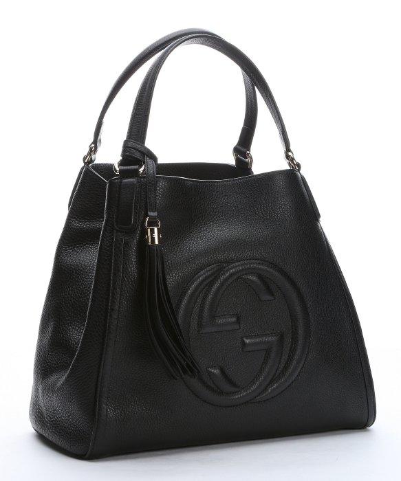 Lyst Gucci Black Leather Medium Soho Hobo Shoulder Bag