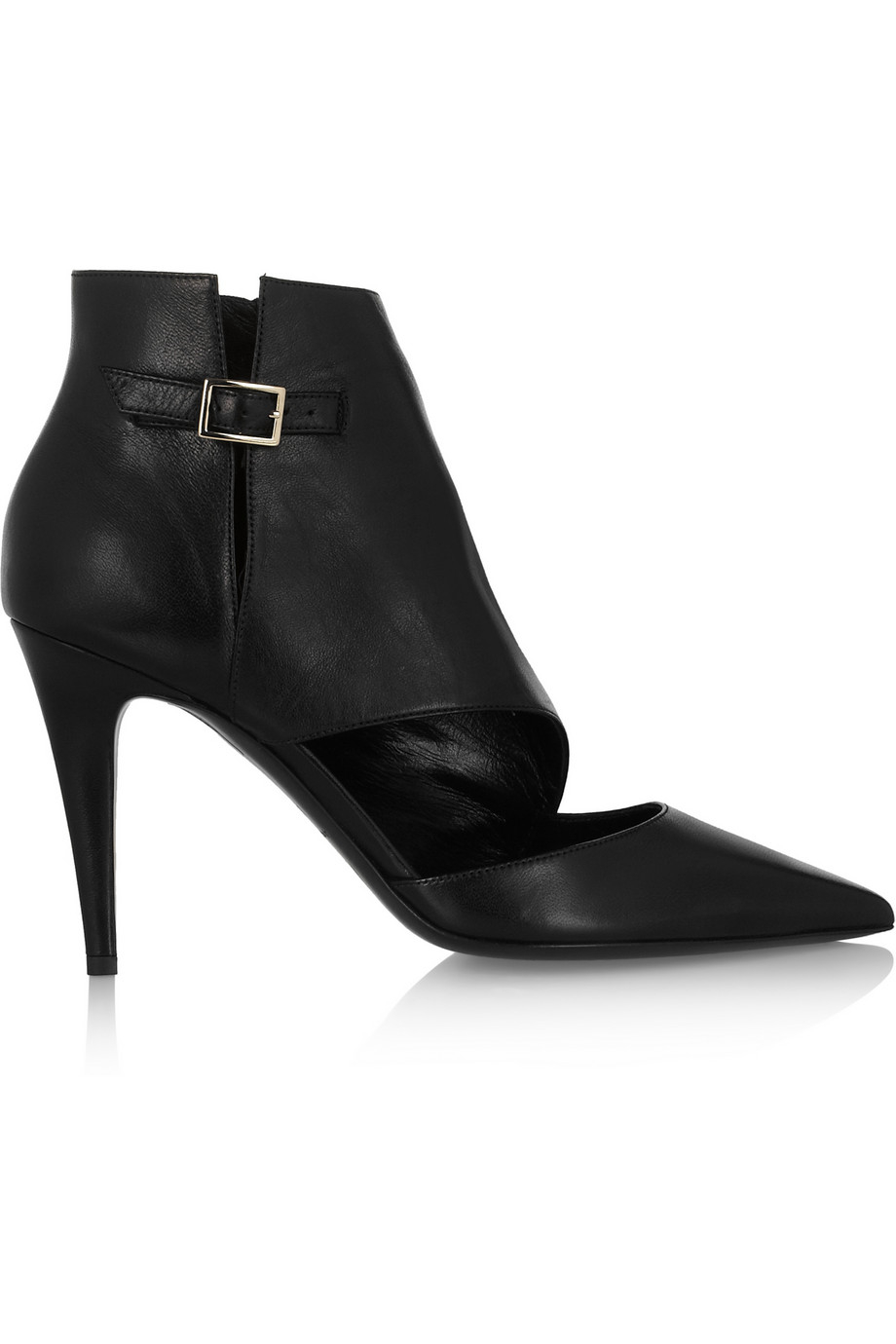 32f8adcafb9 Tamara Mellon Madness Cutout Leather Ankle Boots in Black - Lyst