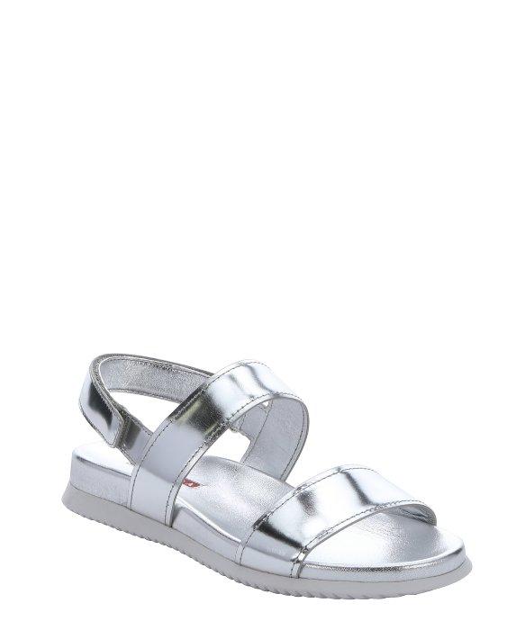 prada sport silver sandals