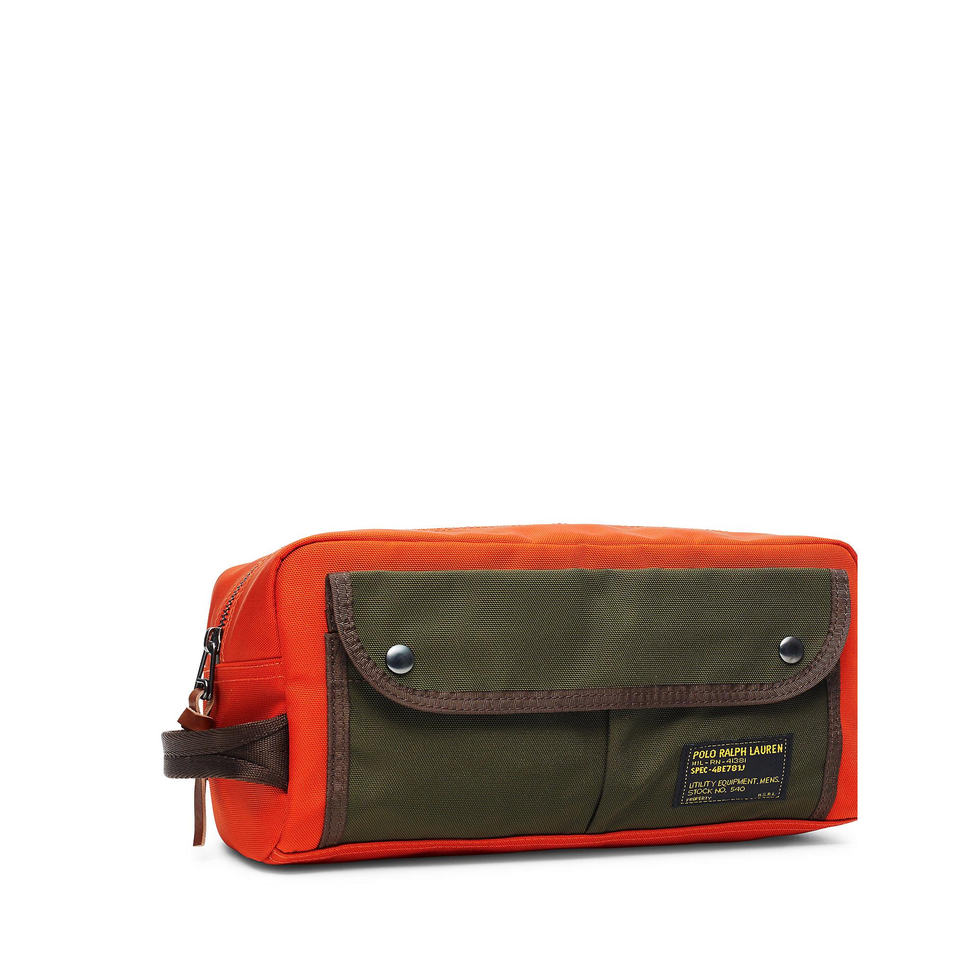 f29a7920411a Lyst - Polo Ralph Lauren Nylon Shaving Kit in Orange for Men