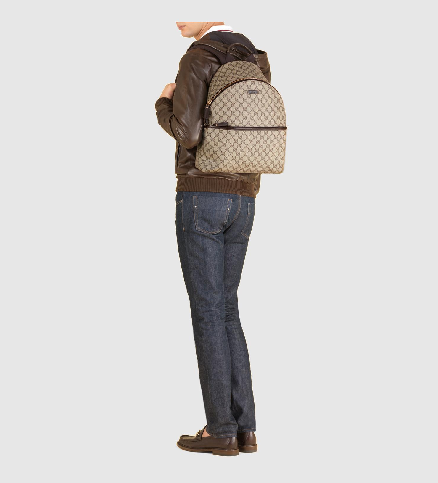 7da5fac0ebb4bb Gucci Gg Supreme Canvas Zip Backpack in Gray for Men - Lyst