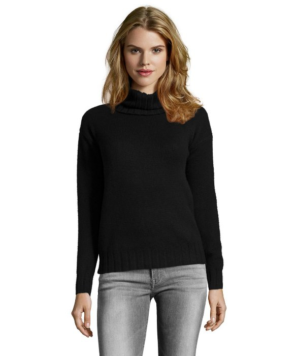 eb329552312 In In Sweater Turtleneck Rib Lyst Knit Black Theory Theory Theory Cashmere   lanola  T8UTwf7gq