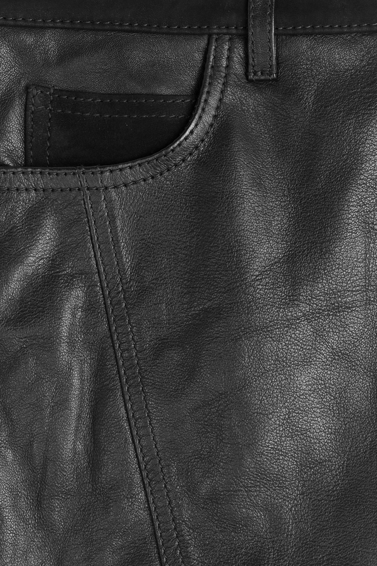 28b8668d7d9c0b Burberry Brit Lamb Leather Pencil Skirt - Black in Black - Lyst