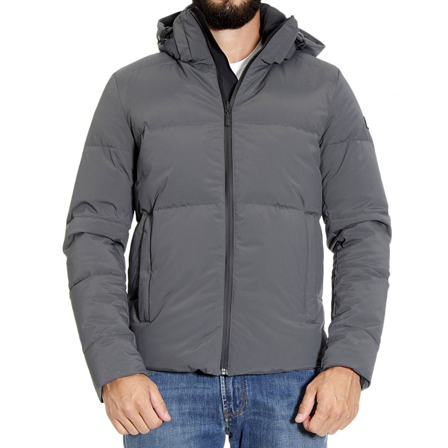 Fendi Down Jacket In Black For Men Lyst