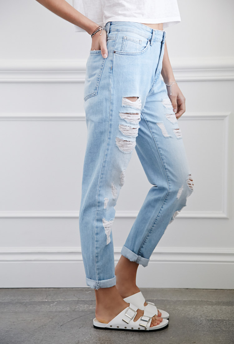 Forever 21 Distressed Boyfriend Jeans You've Been Added To The ...