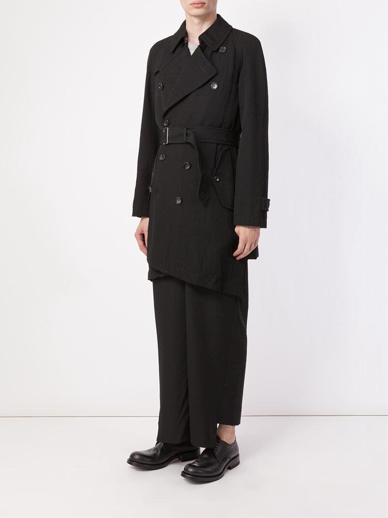 lyst comme des gar ons belted trench coat in gray for men. Black Bedroom Furniture Sets. Home Design Ideas