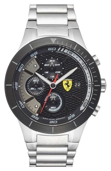 Lyst - Scuderia ferrari 'redrev Evo' Chronograph Bracelet ...
