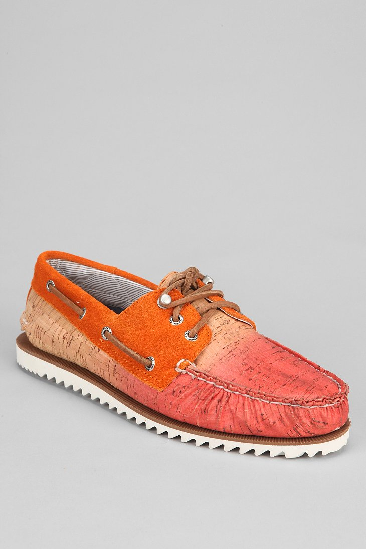 Sperry top sider topsider razorfish ombre cork boat shoe for Best boat shoes for fishing