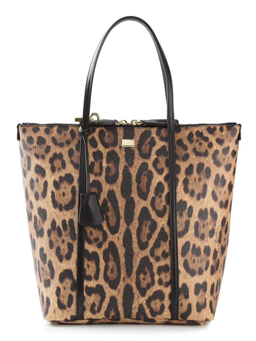 29a0619d2a4f Lyst - Dolce   Gabbana Leopard Print Shopping Bag