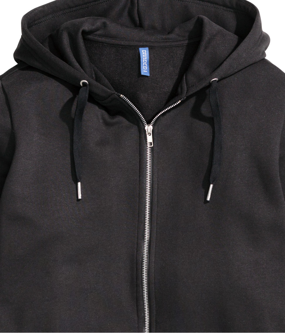 Lyst - H&m Long Hooded Jacket in Black for Men