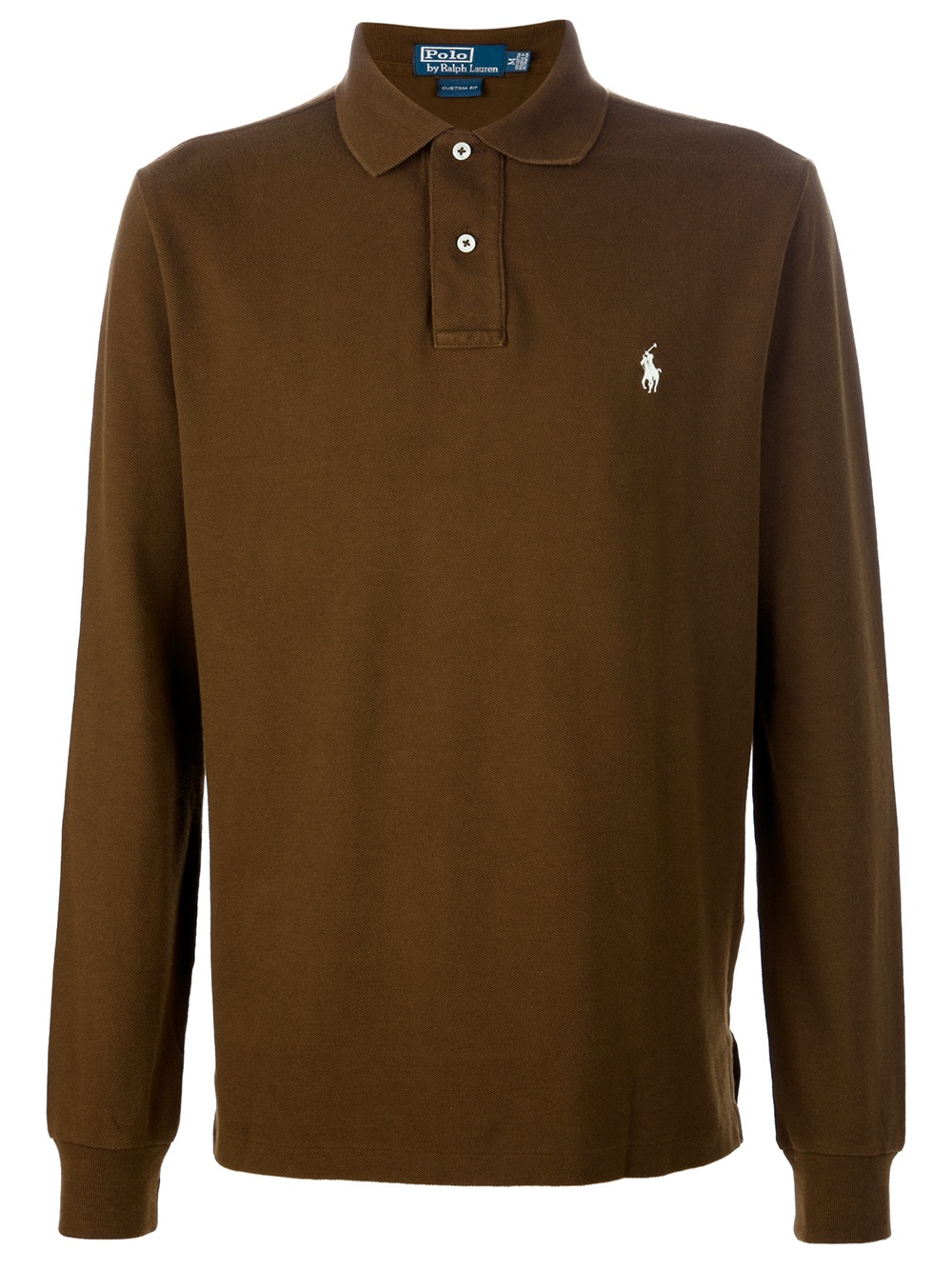 Lyst Ralph Lauren Blue Label Long Sleeve Polo Shirt In