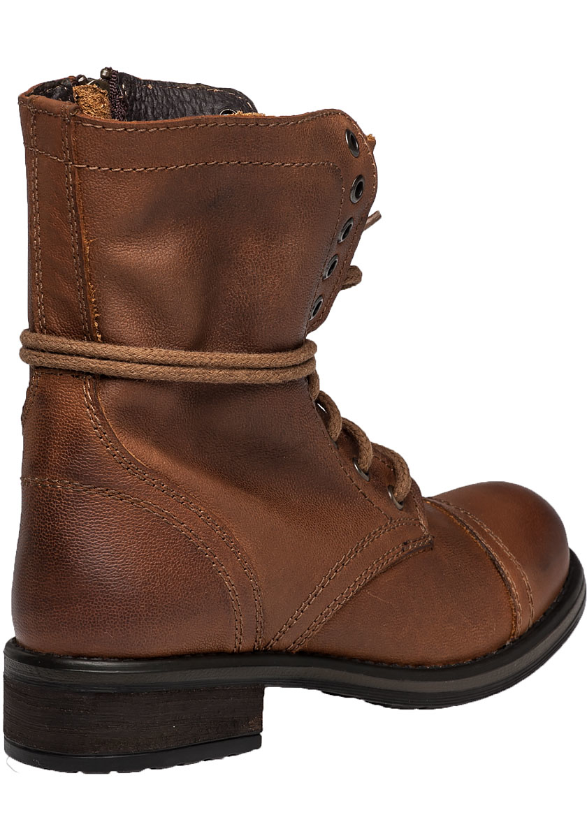 Brown Leather Combat Boots - Cr Boot