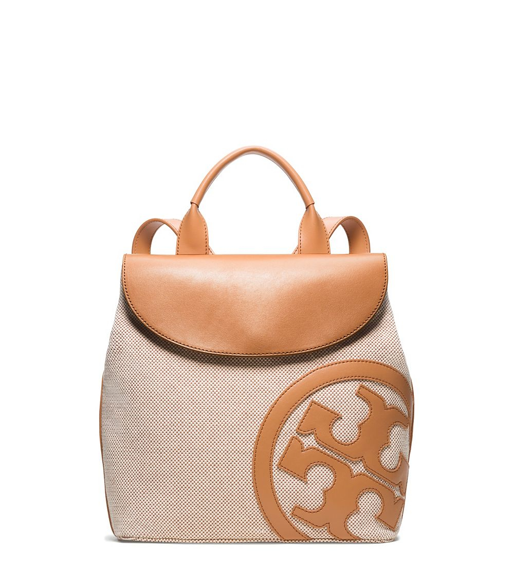 9e07dfefbb51 Lyst - Tory Burch Lonnie Canvas Backpack in Natural