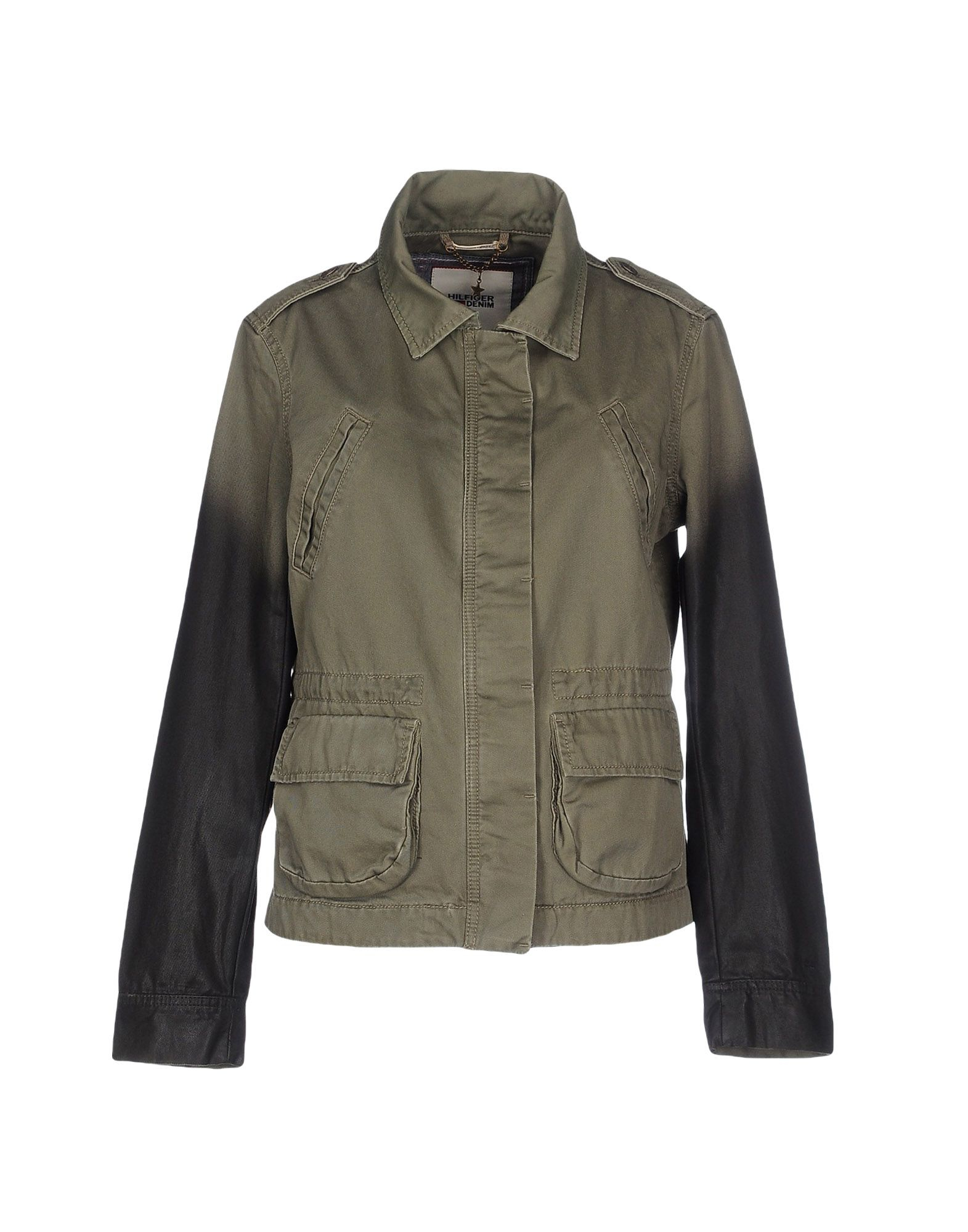 hilfiger denim jacket in green for men military green lyst. Black Bedroom Furniture Sets. Home Design Ideas